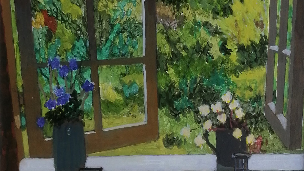 """""""view of summer garden"""" Mike Hall"""