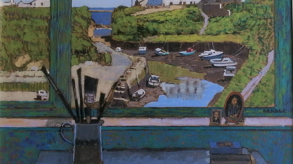 """""""view of the creek from the studio"""" Mike Hall"""
