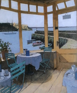 Cafe_by_the_harbour_acrylic_on_board_14x
