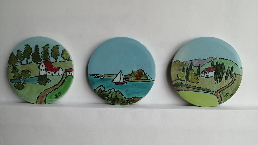 small coasters set of three