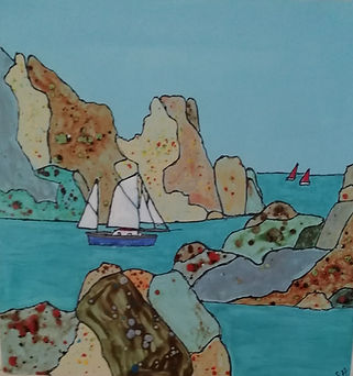 ceramic picture of rocks and yatch.jpg
