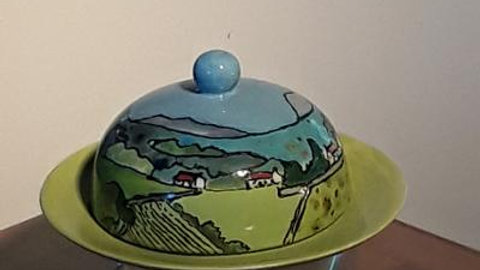 Butter dish country scenes