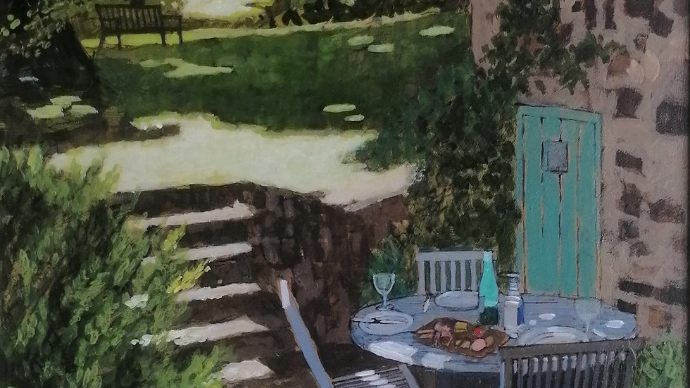 """""""Lunch on the lower terrace"""" Mike Hall"""