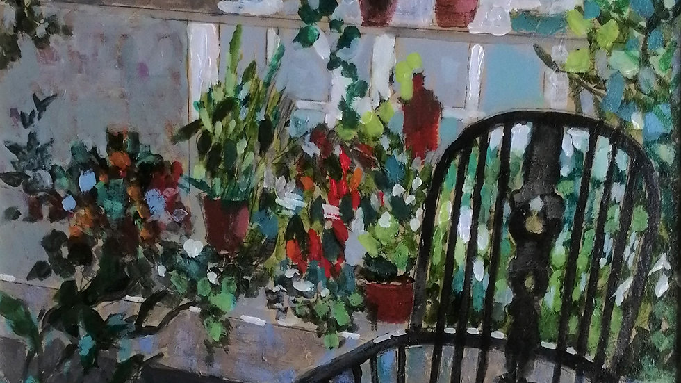 """""""Chair in the conservatory"""" Mike Hall"""