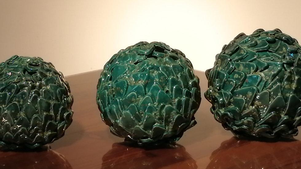 Set of three artichokes