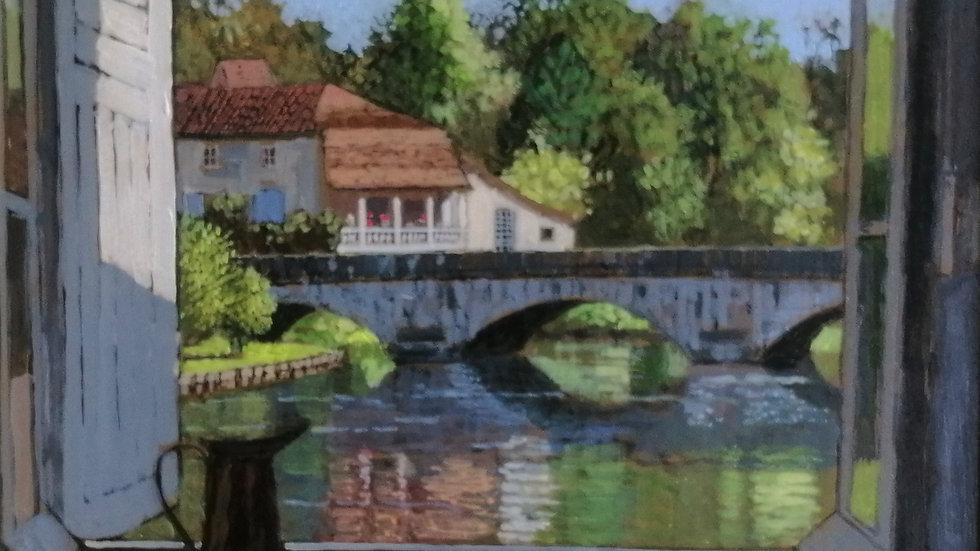 """View of the bridge Bramtom"" Mike hall"