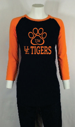 TJW UE Tigers 3/4 Sleeve Womans