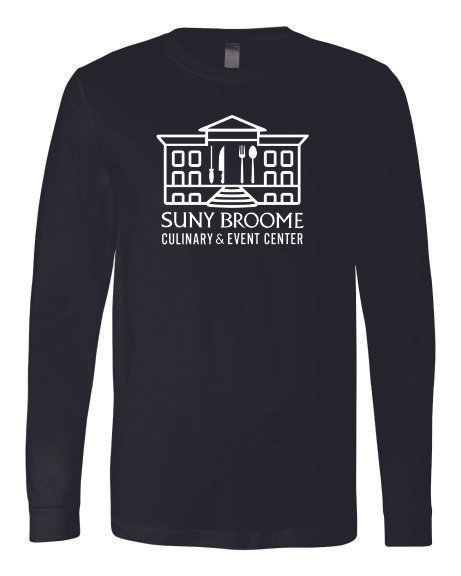 SUNY Broome Culinary Cotton Long Sleeve Full Front Print