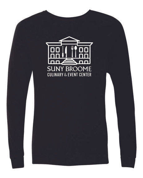 SUNY Broome Culinary Triblend Long Sleeve Full Front Print