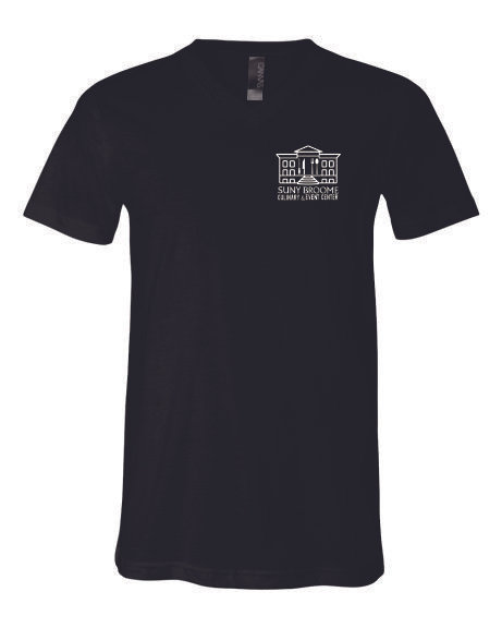 SUNY Broome Culinary Cotton Unisex Vneck Left Chest Print