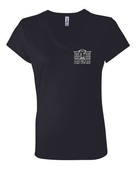 SUNY Broome Culinary Cotton Women's Vneck Left Chest Print