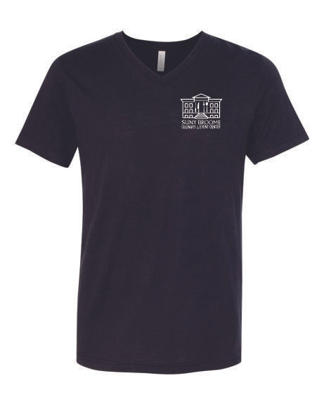 SUNY Broome Culinary Triblend Unisex Vneck Left Chest Print