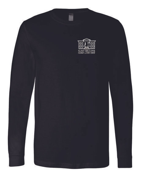 SUNY Broome Culinary Cotton Long Sleeve Left Chest Print