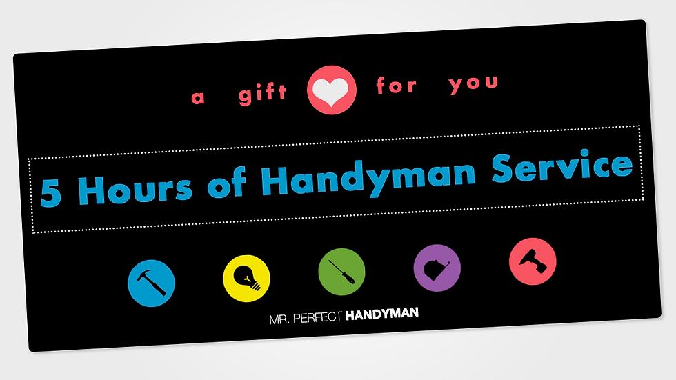 5 Hours of Handyman Service
