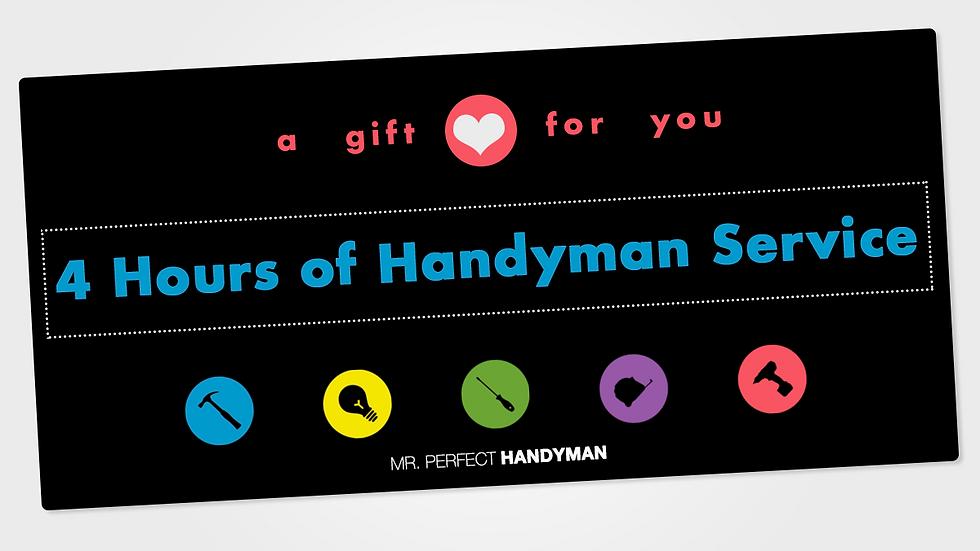 4 Hours of Handyman Service