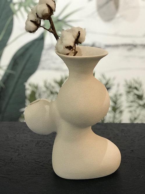 Grand Vase Double Entrées Céramique en Grès Brut par TATALU