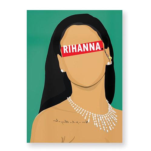 RIHANNA Affiche Illustrée par HUGOLOPPI