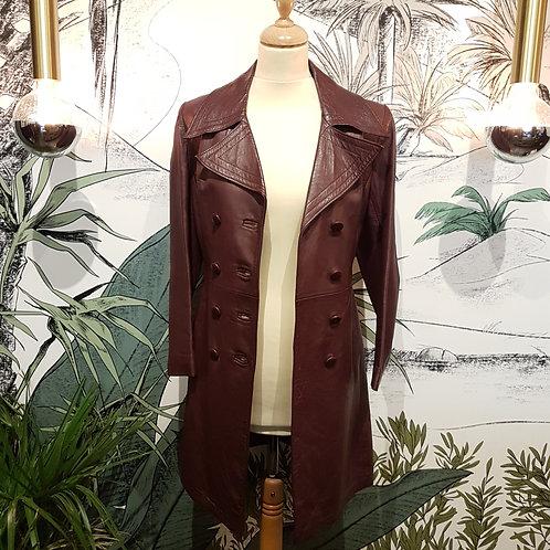 Longue veste cuir Taille 36
