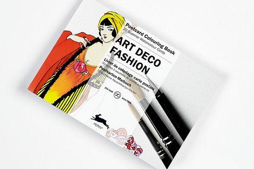"""Bloc Cartes Postales Aquarelle """"ART DECO FASHION"""""""