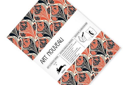 """Livre de Feuilles Papier Cadeau """"Art Nouveau"""""""