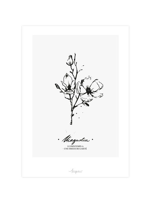 """Affiche 21 x 29,7 cm """"MAGNOLIA"""" by Angie"""