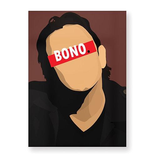 BONO Affiche Illustrée par HUGOLOPPI