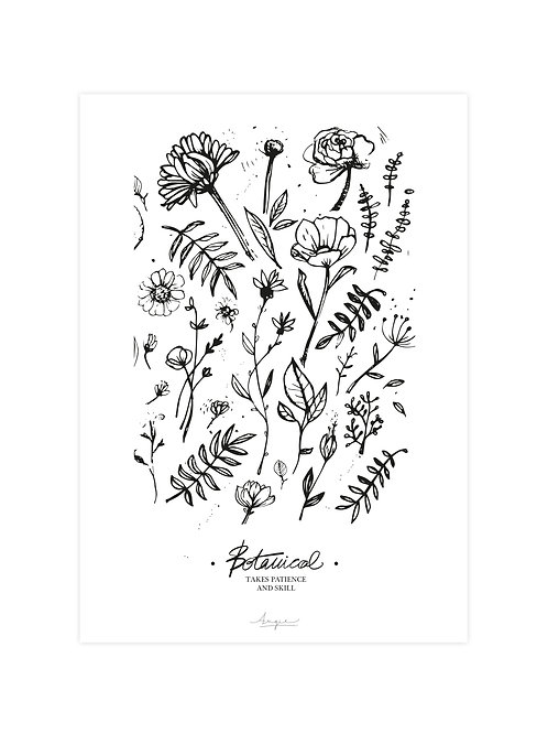 """Affiche 21 x 29,7 cm """"Botanical"""" by Angie"""