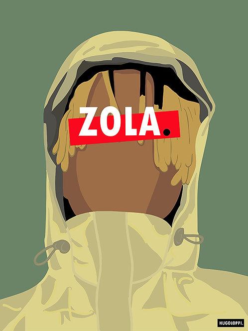 ZOLA Affiche Illustrée                                   ▲par HUGOLOPPI▲