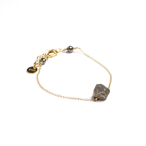 Bracelet Chaine Gold filled Pyrite Brute par LYTO