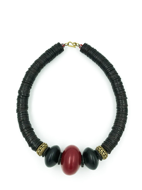 Collier Perles de Verres et Plates                  ▲  IWACU DESIGN▲