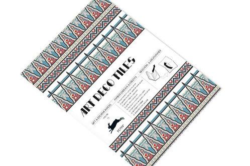 """Livre de Feuilles Papier Cadeau """"Art Deco Tiles"""""""