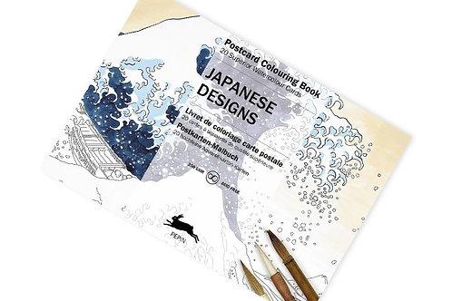 """Bloc Cartes Postales Aquarelle """"Dessins Japonais"""""""