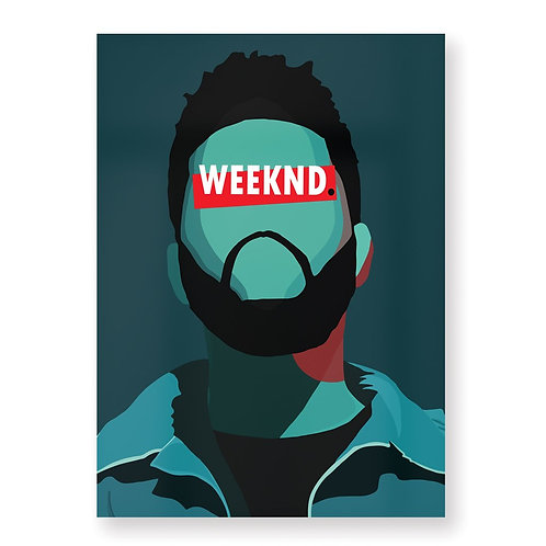 THE WEEKND Affiche Illustrée par HUGOLOPPI