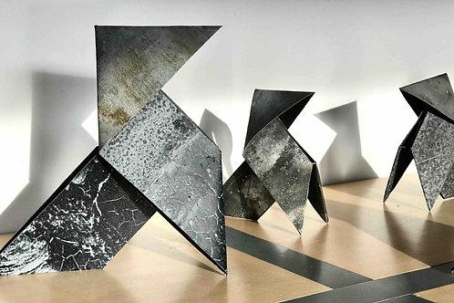 Cocotte Origami en Zinc