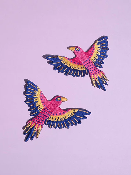 Duo de patchs thermocollants oiseaux Aigles by MALICIEUSE