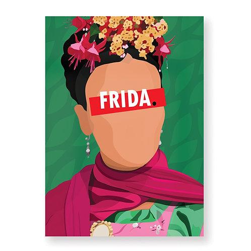 FRIDA KAHLO Affiche Illustrée par HUGOLOPPI
