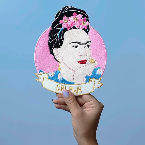 Broderie thermocollante Frida Girl Power XL by MALICIEUSE