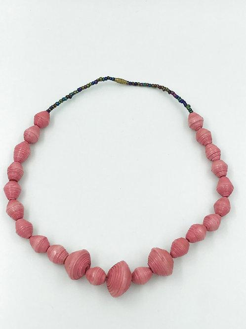 Collier Perles de Papier et Rocaille                ▲ IWACU DESIGN▲