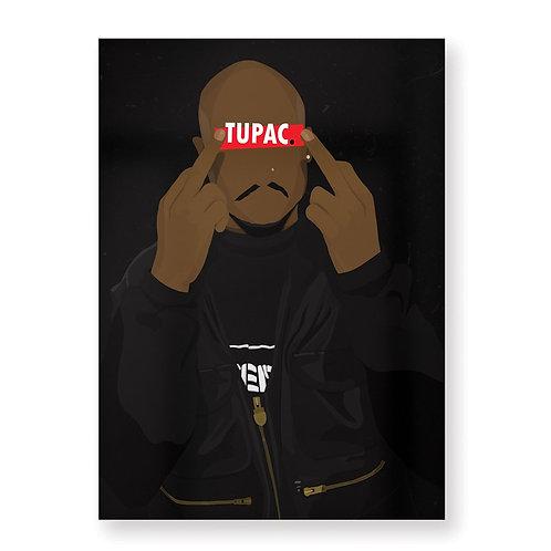 TUPAC Affiche Illustrée par HUGOLOPPI