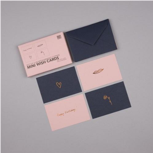 Set de 4 Mini-Cartes by MUS