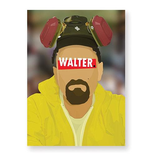WALTER WHITE Affiche Illustrée par HUGOLOPPI