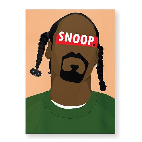 SNOOP DOGG Affiche Illustrée par HUGOLOPPI