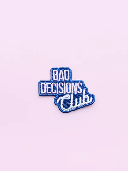 Patch thermocollant Bad Decision Club by MALICIEUSE