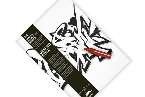 """Livre de Coloriage Marqueur """"Graffiti Style"""""""