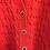 Thumbnail: Gilet Rouge Esprit Vintage Taille 40