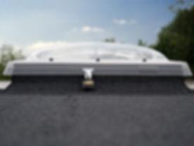Velux dome flat roof window