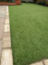 artificial grass with indian paving