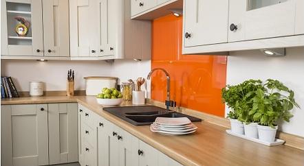 mazan orange splashback
