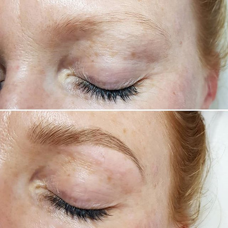 Natural Finish with a classic brow tint.