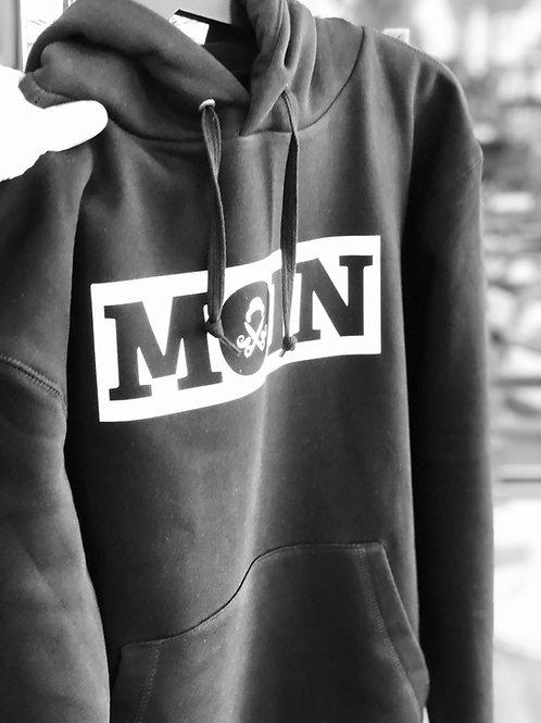 """MOIN"" HOODIE in schwarz"
